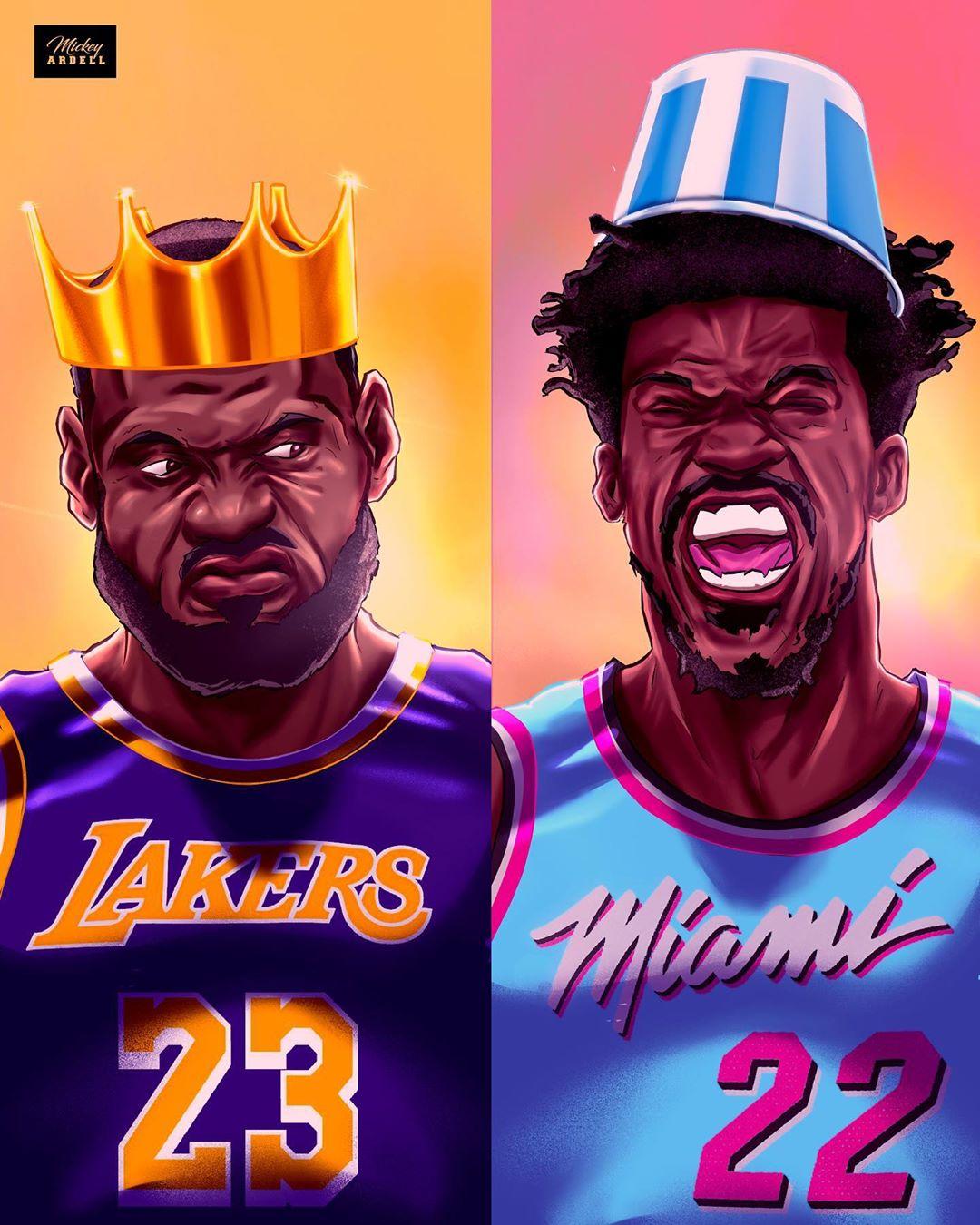 [NBA画师作品]总决赛特辑:洛杉矶湖人VS迈阿密热火