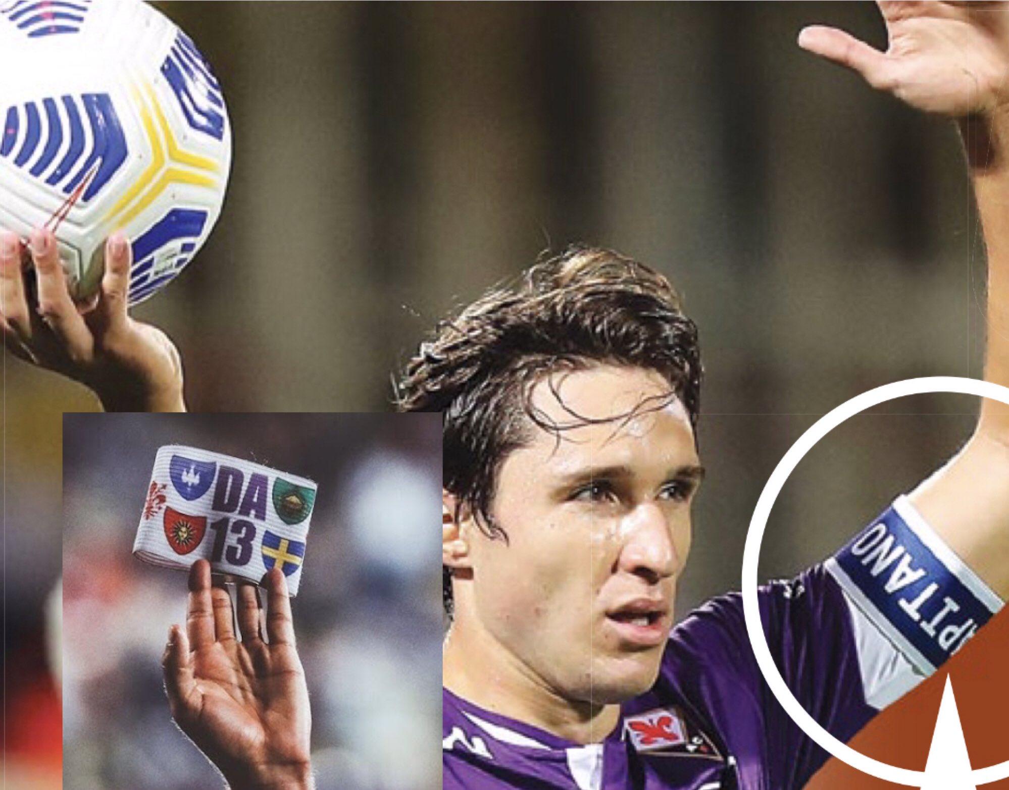 接近转会尤文,紫百合球迷抗议基耶萨佩戴阿斯托里OG真人厅袖标