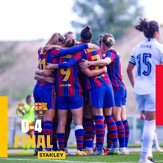 首场女足西班牙国家德比!巴萨多点开花,客场4-0大胜