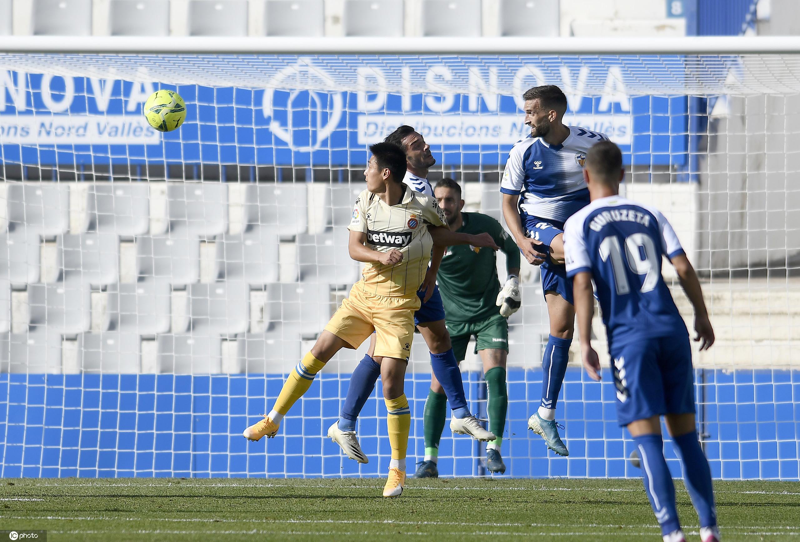武磊首发登场梅拉梅德破门,西班牙人客场1-0萨瓦德尔
