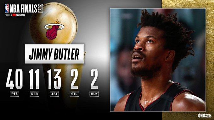 NBA官方评选最佳数据:巴特勒40分11板13助2断2帽