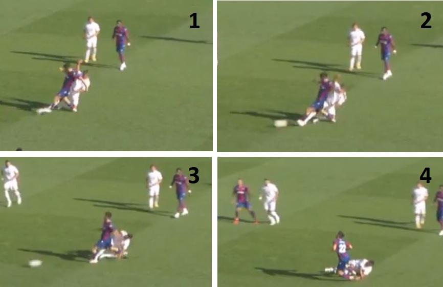 裁判专家:卡塞米罗下半场的放铲不出示黄牌是合理的