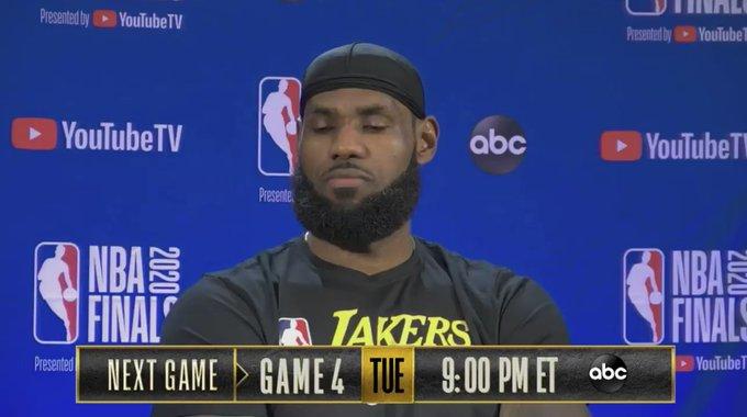 詹姆斯谈还剩10秒时提前退场:因为沮丧而且比赛已经结束