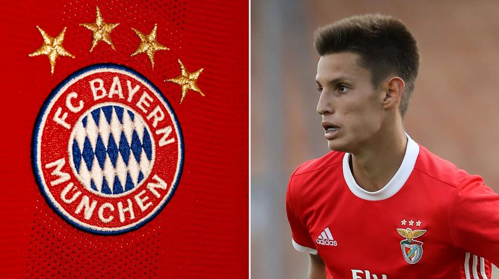 官方:拜仁慕尼黑租借本菲卡小将蒂亚戈-丹塔斯一年