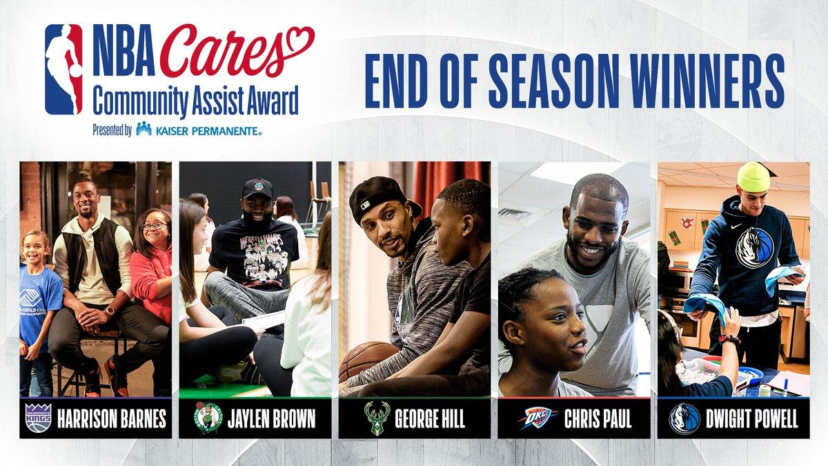 巴恩斯杰伦希尔保罗和鲍威尔荣获本赛季的NBAog真人电子网站社区关怀奖