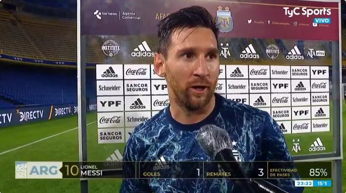 梅西:阿根廷今天表现不亚博棋牌娱乐及预期,但世预赛取胜最重要