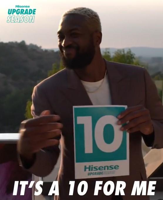 韦德为海信电视拍摄广告片:从我这里得到10分是很难的