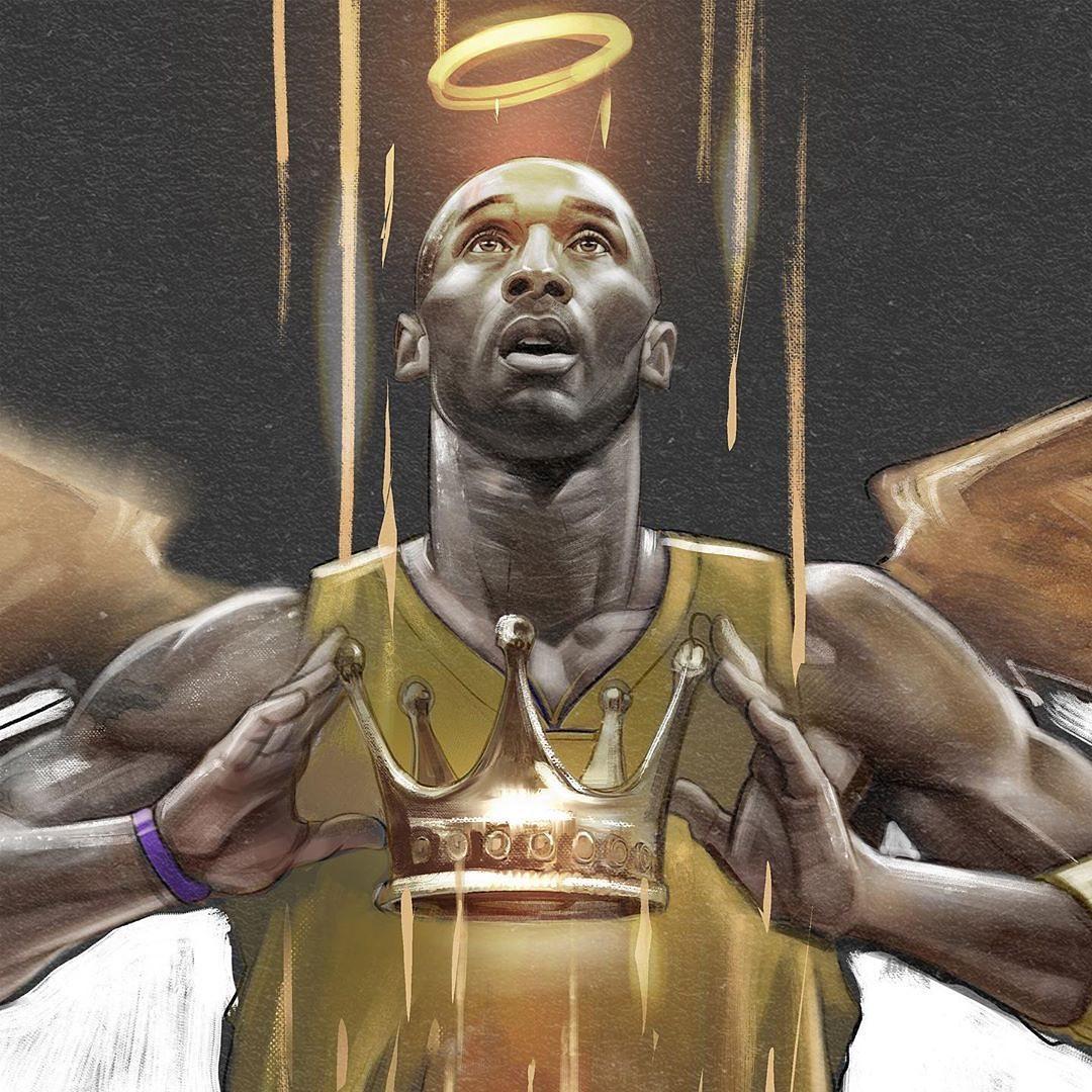 [NBA画师作品]国内外优秀艺术家为总冠OG真人厅军湖人创作的插画