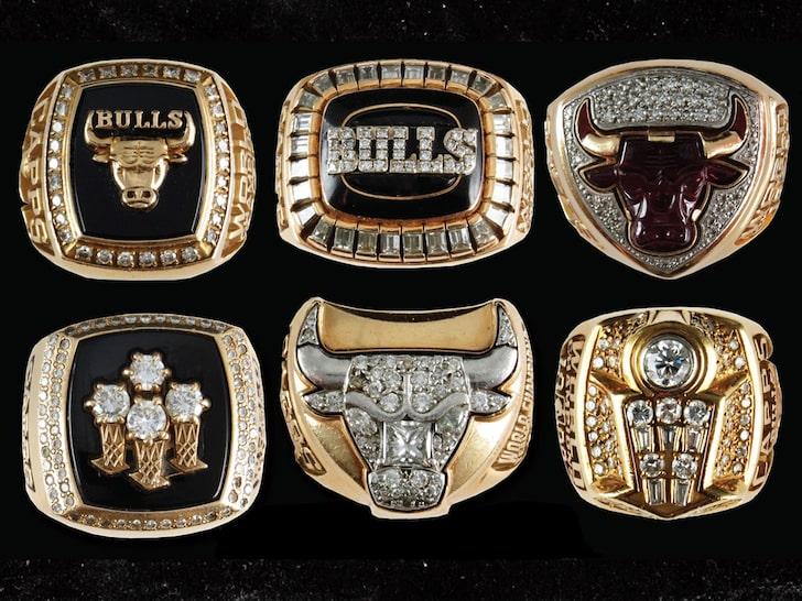 心动了吗?一套完整的公牛六冠戒指正在被拍卖