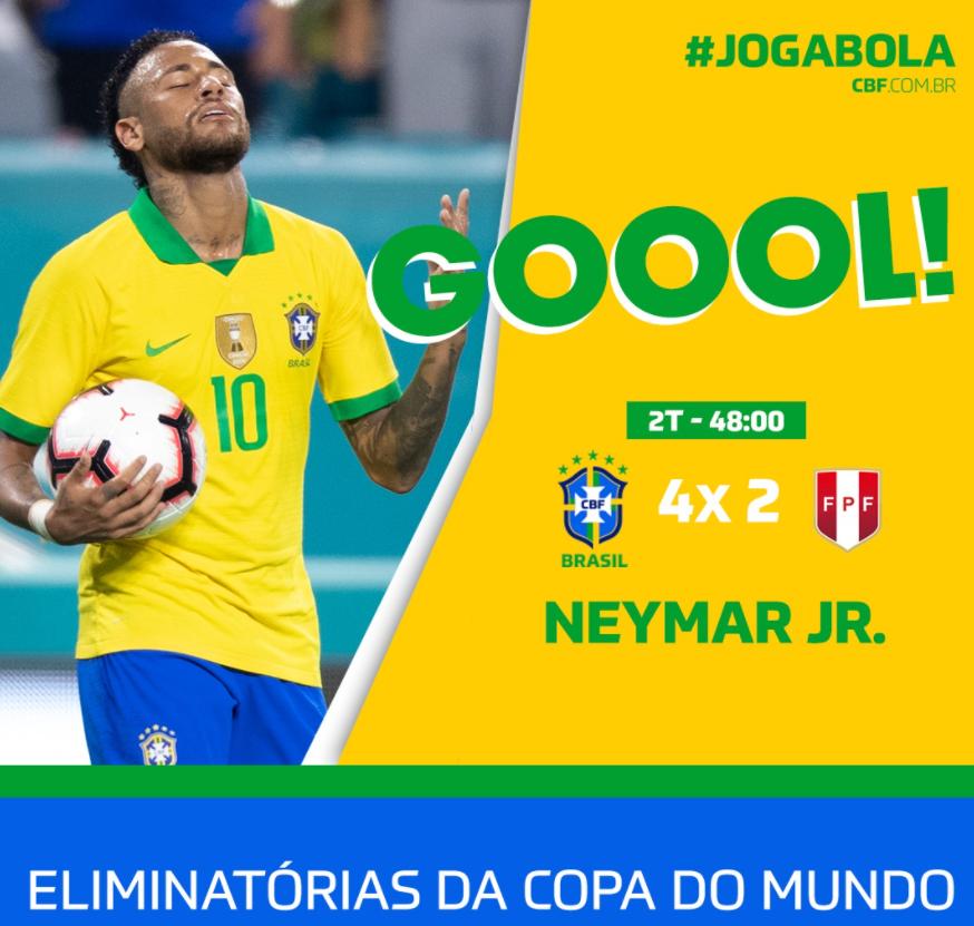 GIF:里贝罗射门中柱内马尔补射戴帽,秘鲁2-4巴西