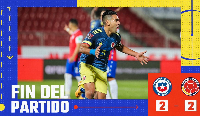 桑切斯比达尔破门法尔考补时绝平,智利2-2哥伦比亚