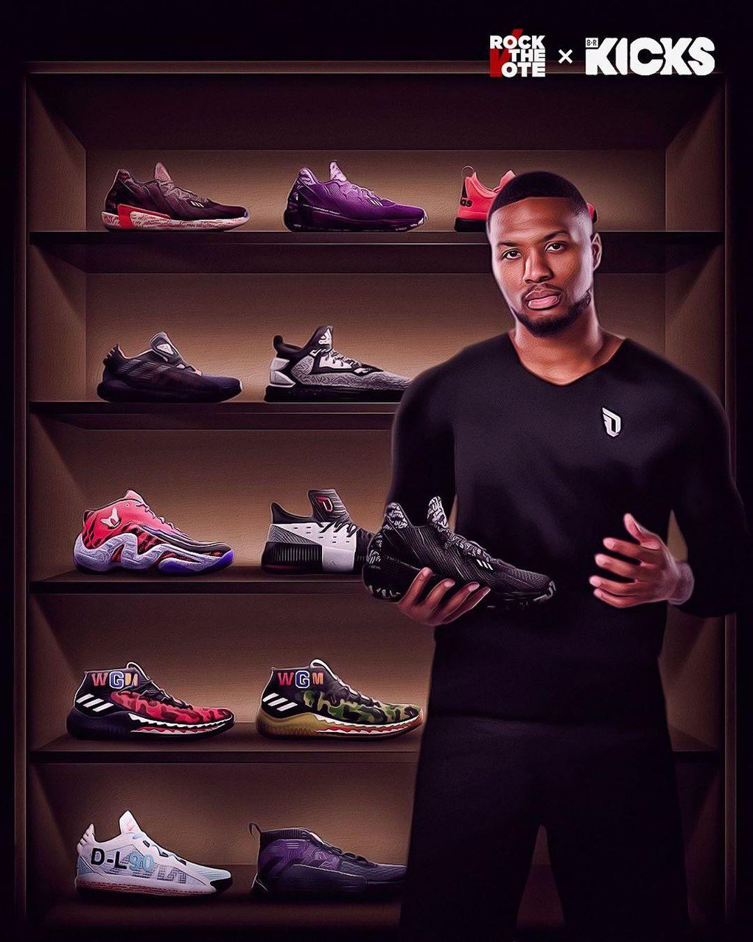 利拉德晒球鞋特效照:你们最喜欢哪个配色?