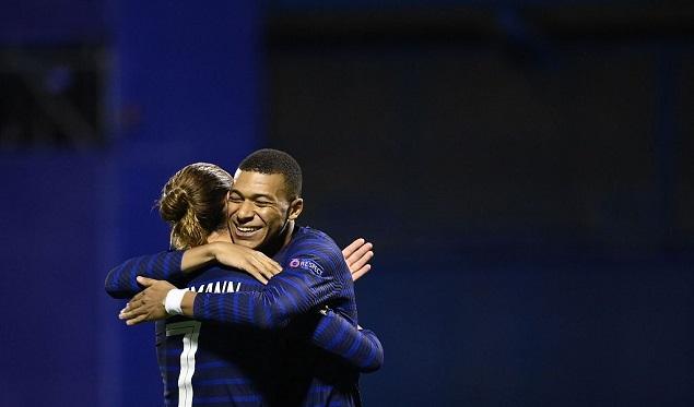 欧国联:格列兹曼姆巴佩建功,法国2-1克罗地亚