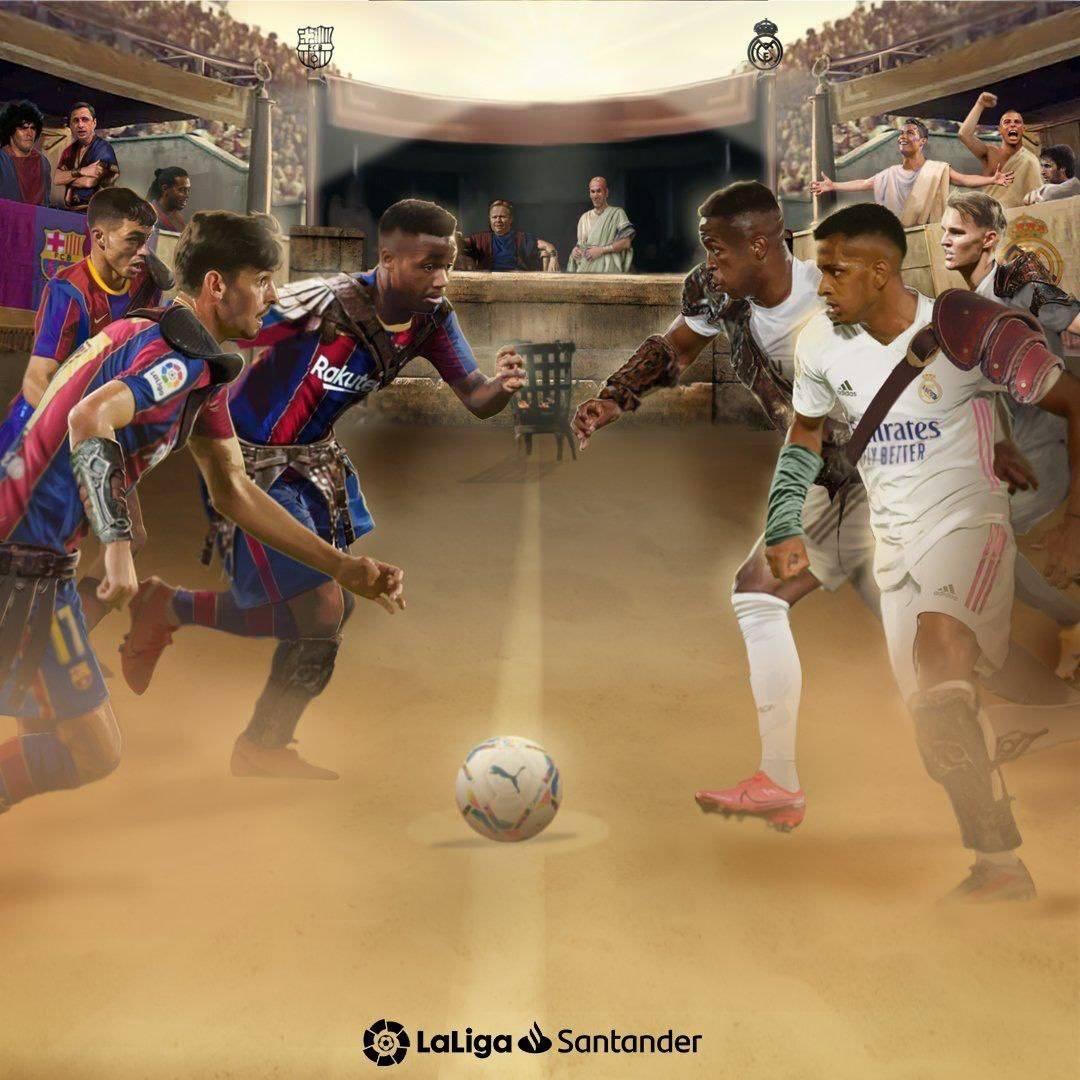 巴萨vs皇马:梅西、法蒂大战本泽马、维尼修斯,佩德里首发