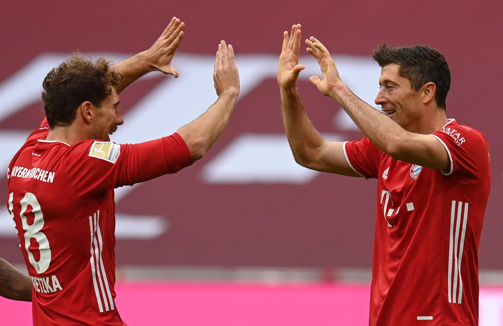 进攻火力十足!拜仁5轮22球创造德甲同期最多进球记录
