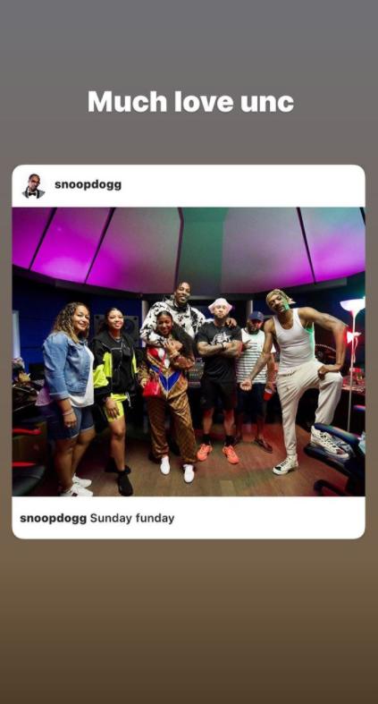 霍华德更新Ins晒与女友做客Snoop Dogg录音棚合影