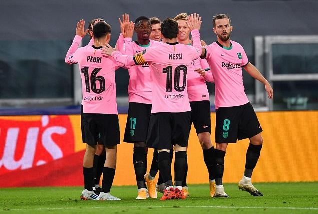 欧冠:梅西登贝莱破门莫拉塔进球三被吹,尤文0-2巴萨