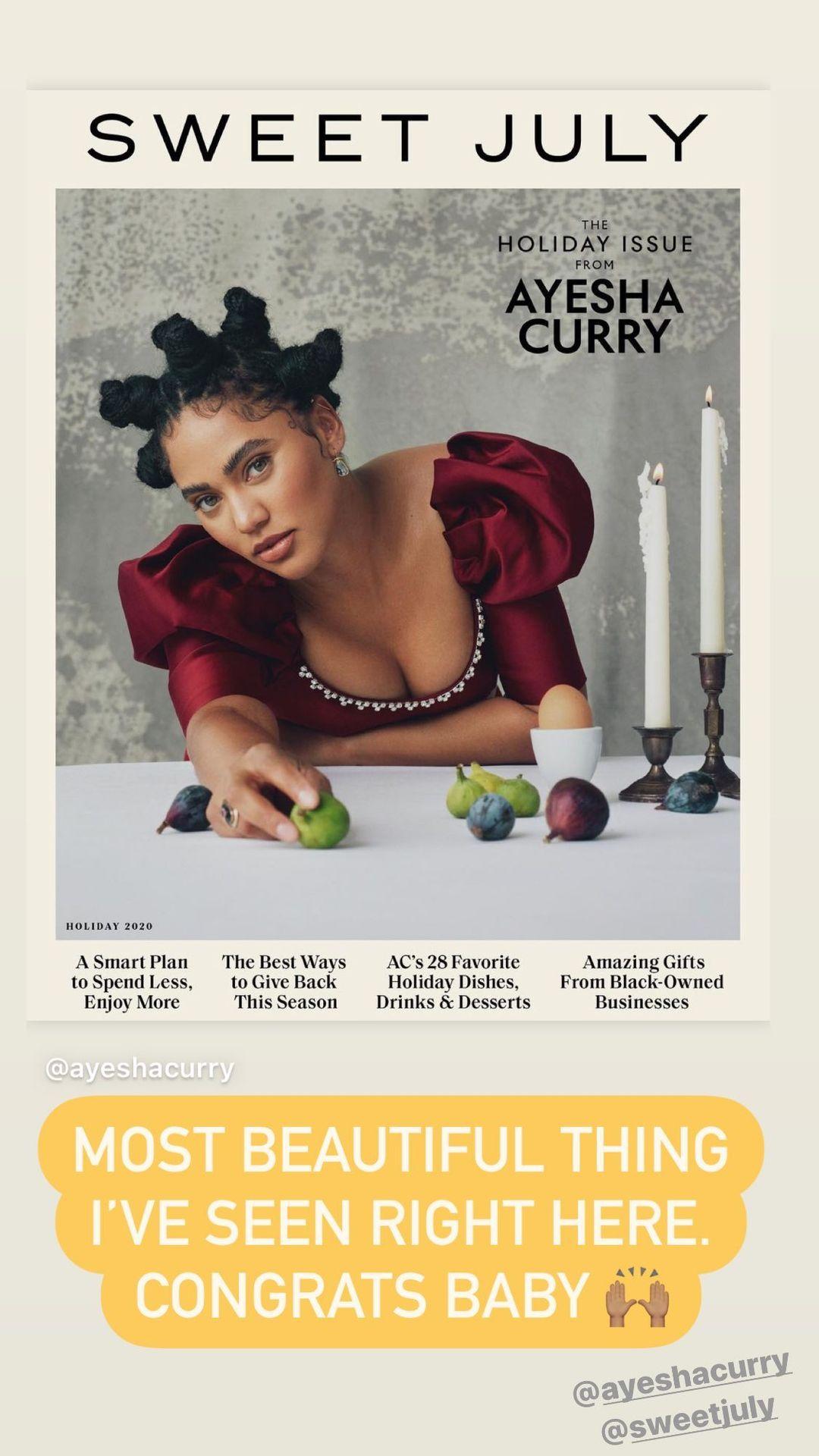 库里转发妻子的杂志封面照:我见过最漂亮的!祝贺你宝贝