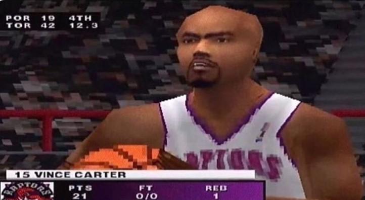 媒体晒卡特在N64游戏中的形象:这里面最后退役的球员