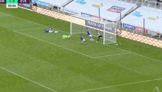 GIF:锁定胜局!威尔逊梅开二度,纽卡斯尔2-0埃弗顿