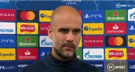 瓜帅:曼城挣扎着打进第2粒进球,休息之后将备战利物浦