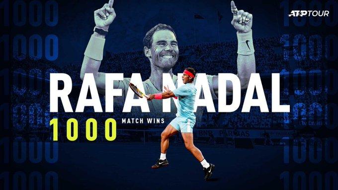 保罗-加索尔晒图祝贺纳达尔收获职业生涯第1000场胜利