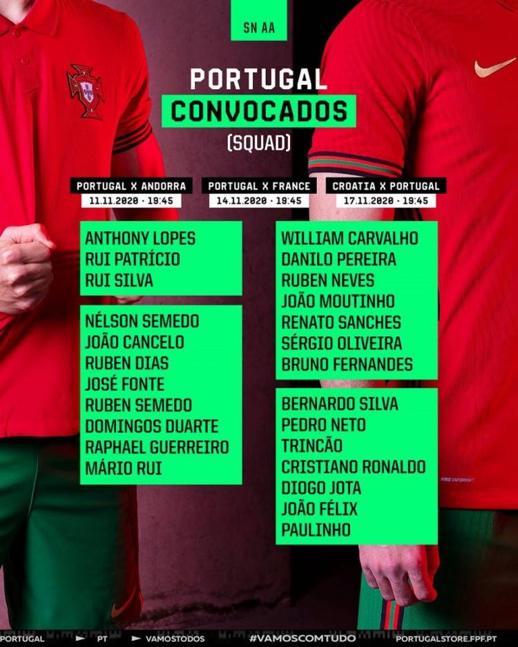 葡萄牙最新一期大名单:C罗领衔,B费特500万彩票林康在列
