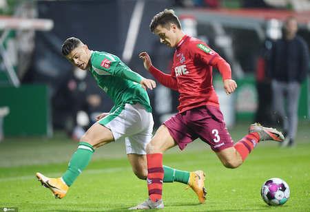德甲:莫伊桑德乌龙比当古点射扳平,不莱梅1-1科隆