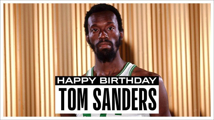 NBA官推祝凯尔特人名宿汤姆-桑德斯82岁生日快乐