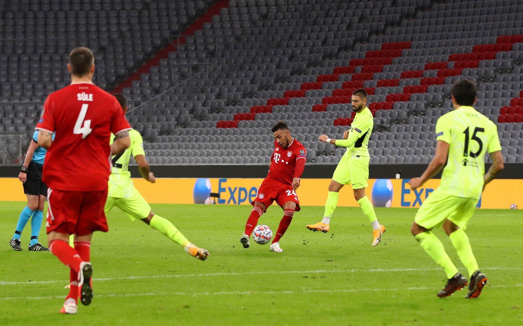 官方:托利索对马竞世界波当选拜仁月最佳进球