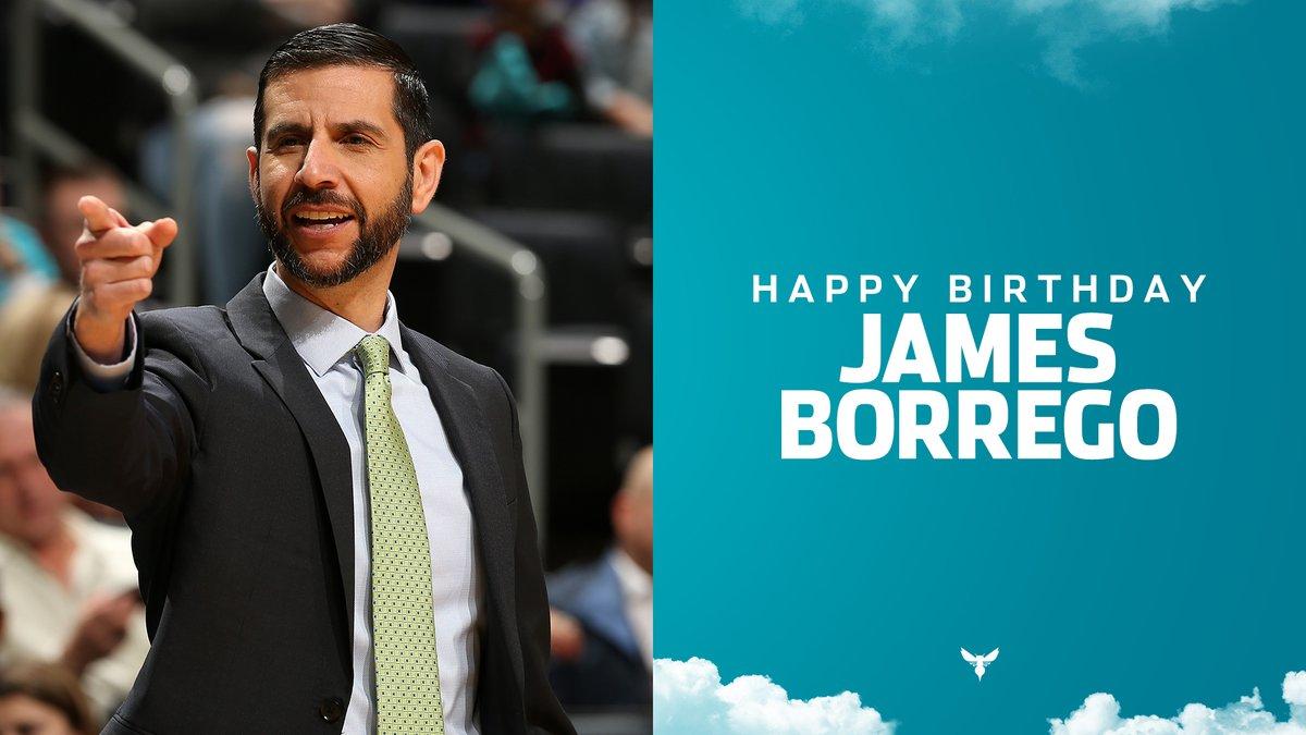 黄蜂官方晒图庆祝主教练詹姆斯-博雷戈生日快乐