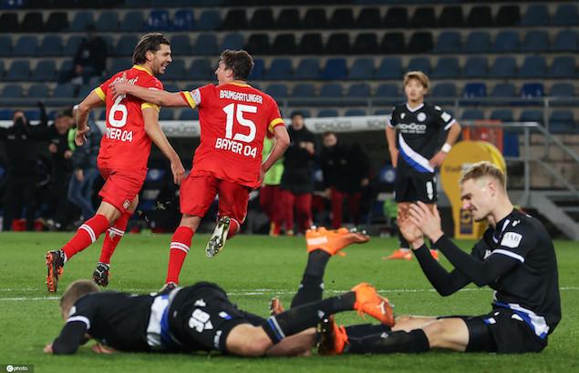 德甲:赫拉德茨基离奇乌龙,比勒菲尔德1-2勒沃库森