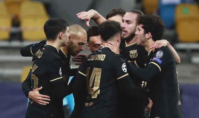 欧冠:布莱斯维特2射1传,巴萨客场4-0基辅提前出线