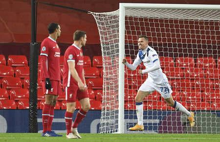欧冠:伊利契奇戈森斯破门,利物浦0-2亚特兰大