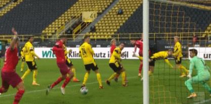 GIF:斯希里门前将球捅进球门,科隆1-0多特蒙德