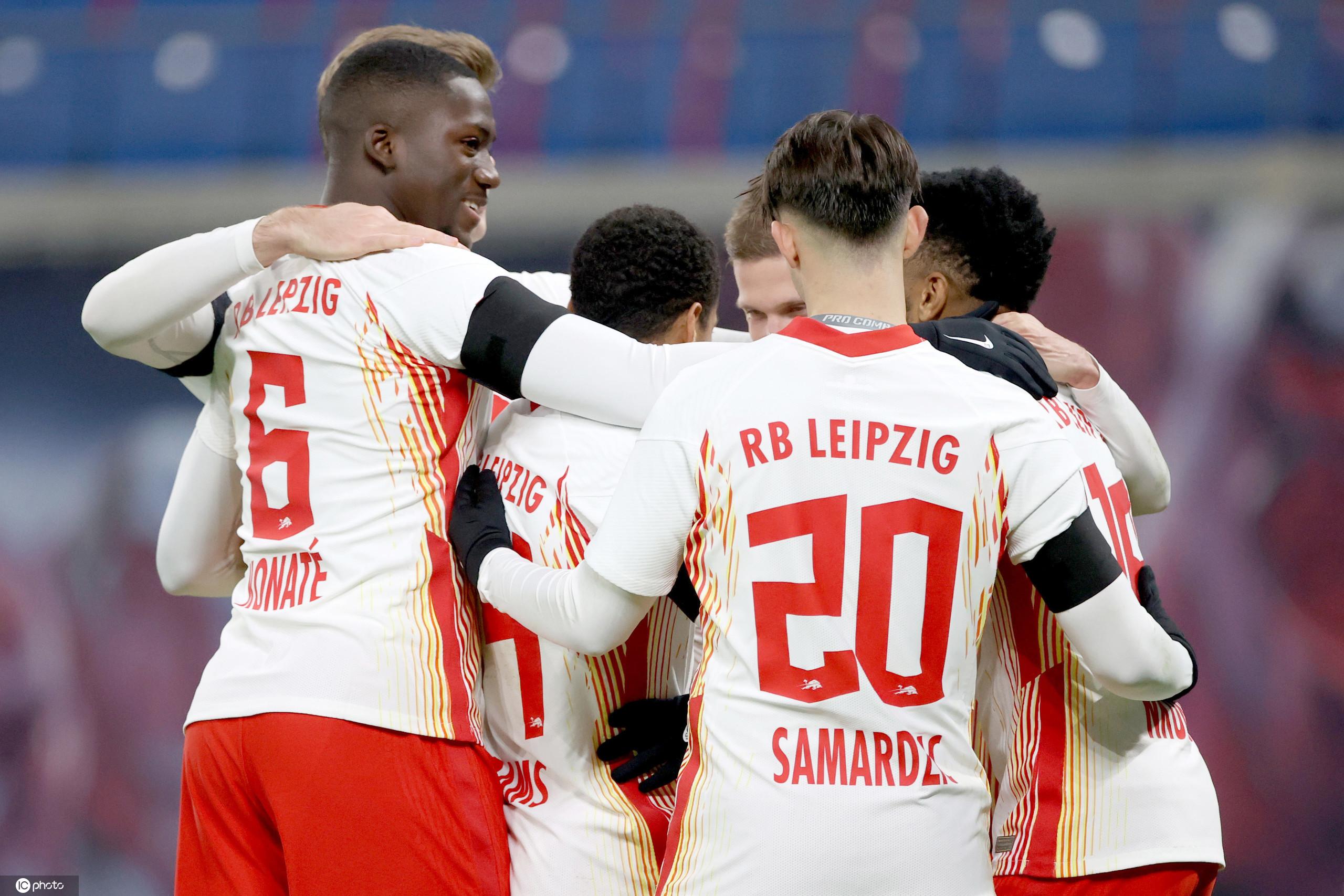 德甲:安赫利尼奥恩昆库破门,莱比锡2-1比勒菲尔德