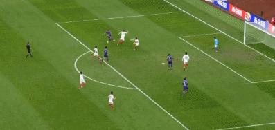 GIF:苏亚雷斯推射破门,天津泰达1-0长春亚泰