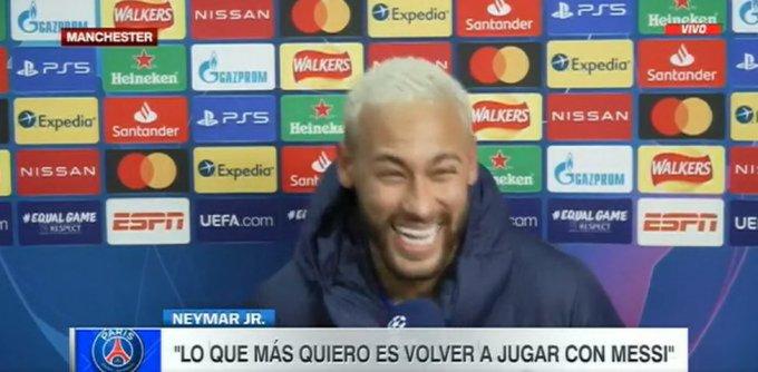 内马尔:我想和梅西再次一起踢球,明年必须这样做